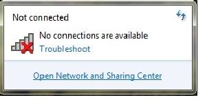 wifi bị lỗi dấu x